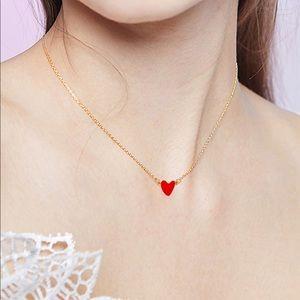 Jewelry - ❤️Heart Charm Romantic Love Necklace Pendant Chain